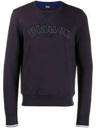 Blauer Embroidered Logo Sweatshirt Blue