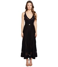 Versace Strapless Plunge Tea Length Dress Nero Women's Dress Black