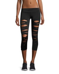 Onzie Shred Capri Performance Leggings Black