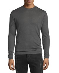 Iro Nafa Long Sleeve Crewneck Shirt Dark Gray Women's