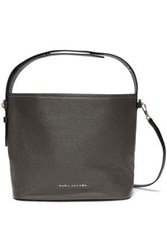 Marc Jacobs Woman Two Tone Pebbled Leather Shoulder Bag Anthracite