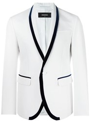 Dsquared2 Shawl Collar Suit Jacket White
