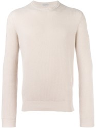 Malo Ribbed Crew Neck Sweater Nude Neutrals