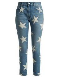Stella Mccartney Star Print Jeans Light Denim