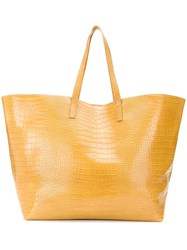 Nanushka Oversized Embossed Tote Bag Yellow