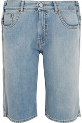 Maison Martin Margiela Mm6 Distressed Denim Shorts Light Denim