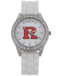 Game Time Women's Rutgers Scarlet Knights Frost Watch White