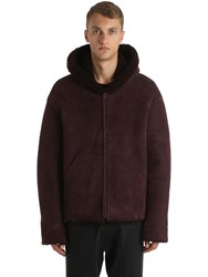 Yeezy Hooded Shearling Jacket Bordeaux