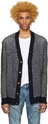 Balmain Navy Knit Cardigan