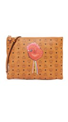 Mcm New Year Pouch Cognac
