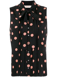 Tory Burch Sleeveless Polka Dot Blouse 60