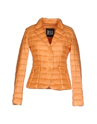 313 Tre Uno Tre Coats And Jackets Down Jackets Women Orange