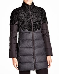 Maximilian Quilted Coat With Lambskin Upper Bloomingdale's Exclusive