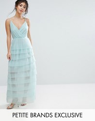 True Decadence Petite Cami Maxi Dress With Ruffle Pleated Skirt Mint Green
