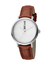 Just Cavalli 34Mm Cfc Stainless Steel Watch W Leather Strap Brown