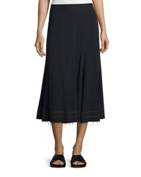 Helmut Lang Full Crepe Midi Skirt Black