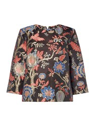 Biba Jacquard Oriental Print Top Multi Coloured Multi Coloured