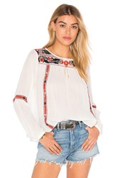 Amuse Society Madyson Woven Top White