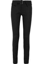 Monse Stretch Wool Blend Twill Skinny Pants Black