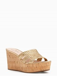 Kate Spade Taravela Wedges Old Gold