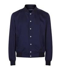 Kenzo Button Down Bomber Jacket Male Navy