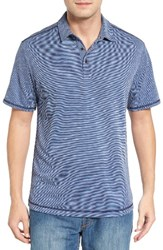 Tommy Bahama Men's New Double Tempo Spectator Jersey Polo Maritime