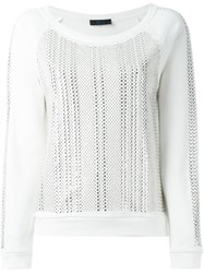 Twin Set Studded Sweatshirt White