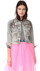 Marc Jacobs Bleach Denim Jacket Ecru