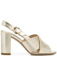 Tod's Chunky Heel Sandals Gold
