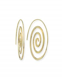 Grazia And Marica Vozza 14K Gold Spiral Hoop Earrings