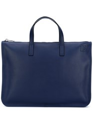Loewe Zip Fastened Tote Women Calf Leather One Size Blue
