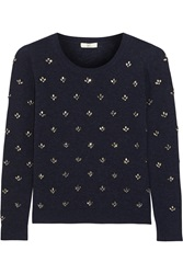 Joie Myron Embellished Wool And Cashmere Blend Sweater Blue