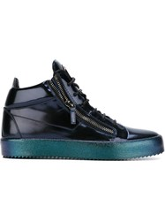 Giuseppe Zanotti Design Zip Detail Hi Top Sneakers Blue