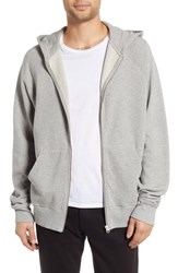 Hope Pause Hooded Zip Sweatshirt Grey Melange