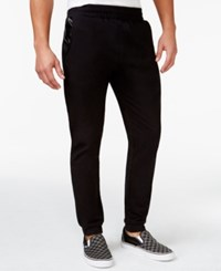 Inc International Concepts Bryan Faux Leather Trim Jogger Pants Only At Macy's