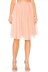 Needle And Thread Tulle Midi Skirt Coral