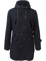 Equipe '70 Hooded Short Trench Coat Blue