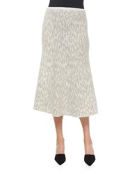 Theory Marvita Leopard Print Knit Midi Skirt