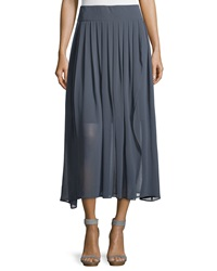 Peserico Pleated Long Chiffon Skirt