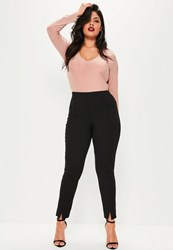 Missguided Plus Size Black Skinny Fit Cigarette Trousers