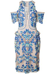 Thurley Embroidered Midi Dress Blue