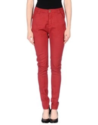 Superfine Casual Pants Brick Red