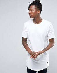 Only And Sons Super Longline T Shirt White