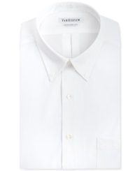 Van Heusen Big And Tall Easy Care Pinpoint Short Sleeve Dress Shirt
