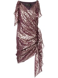 Romance Was Born Disco Paisley Wrap Dress Purple