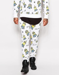 Criminal Damage X Minions Joggers With All Over Print White