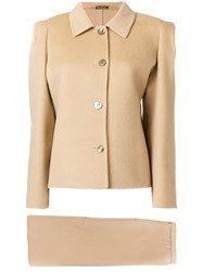 Pierre Cardin Vintage Two Piece Skirt Suit Nude And Neutrals