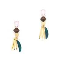 J.Crew Crystal Bead Earrings Rustic Mint