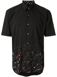 Loveless Paint Splatter Shirt Black