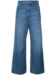 Rachel Comey Flared Cropped Jeans Blue
